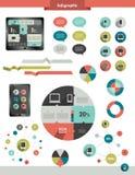 Os gráficos da informação ajustaram elementos Fotografia de Stock Royalty Free