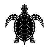 Os gráficos de tartaruga assinam ilustração stock