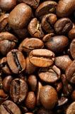 Os grãos de café fecham-se acima Fotografia de Stock Royalty Free