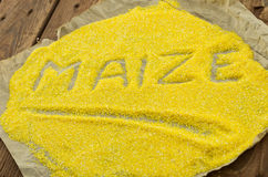 Os grãos de milho Imagem de Stock
