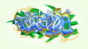 Os grafittis Art Of Falova Ilustração do Vetor