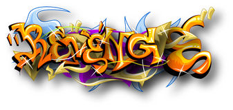 Os grafittis Art Of Revenge Fotografia de Stock Royalty Free