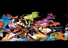 Os grafittis isolam-se na BG preta Imagem de Stock Royalty Free