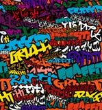 Os grafittis sem emenda colorem o fundo ilustração do vetor