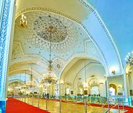 Os grandes interiores do palácio de Golestan, Tehran Imagem de Stock