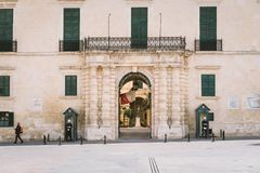 Os Grandmasters palácio, Valletta, Malta Fotografia de Stock Royalty Free