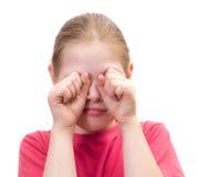 Os gritos da menina Fotos de Stock