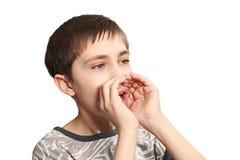 Os gritos do adolescente Foto de Stock Royalty Free