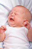 Os gritos recém-nascidos Imagens de Stock Royalty Free