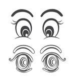 Os grupos de desenhos animados eyes ilustrações do vetor Imagens de Stock
