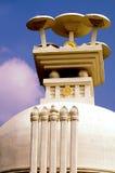 Os guarda-chuvas que descrevem os ensinos sagrados de Lord Buddha fotos de stock royalty free