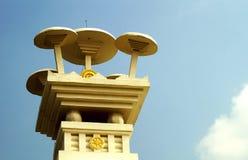 Os guarda-chuvas que descrevem os ensinos sagrados de Lord Buddha foto de stock royalty free