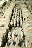 Os guerreiros da argila Foto de Stock