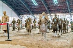 Os guerreiros da terracota de China Foto de Stock