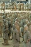 Os guerreiros do Terracotta Fotos de Stock Royalty Free