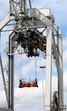 Os guindastes estão funcionando no porto de Rotterdam Fotografia de Stock