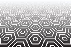 Os hexágonos textured a superfície. Fundo geométrico abstrato. ilustração do vetor