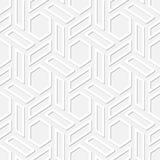 Os hexágonos vector a textura sem emenda Foto de Stock