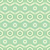 Os hexágonos verdes repetem o fundo do teste padrão do vetor ilustração royalty free