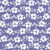 Os hibiscus pattren o roxo Imagens de Stock