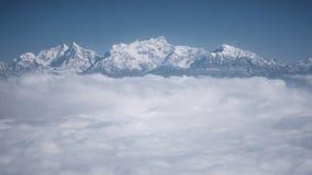 Os Himalayas como visto de um avião, Nepal fotos de stock
