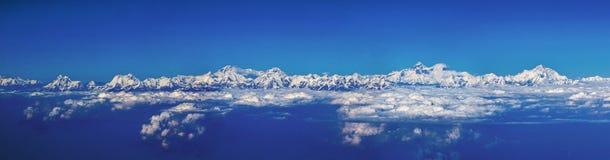 Os Himalayas vistos no plano Imagens de Stock