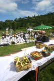 Os hindus comemoram Melasti em Karanganyar, Indonésia Fotografia de Stock Royalty Free