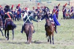 Os homens agitam as mãos após a batalha Fotografia de Stock Royalty Free