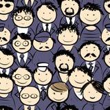 Os homens aglomeram-se, teste padrão sem emenda para seu projeto Fotografia de Stock Royalty Free