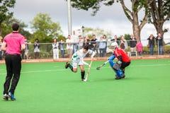 Os homens Argentina do hóquei jogam África do Sul Fotografia de Stock