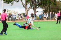 Os homens Argentina do hóquei jogam África do Sul Imagem de Stock