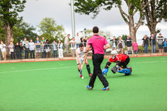 Os homens Argentina do hóquei jogam África do Sul Fotografia de Stock Royalty Free