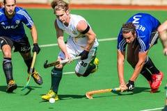 Os homens Argentina do hóquei jogam África do Sul Foto de Stock