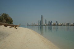 Os homens de Abu Dhabi jogaram o barco Imagens de Stock Royalty Free