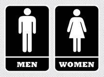 Os homens e as mulheres lavam o sinal da sala ilustração royalty free