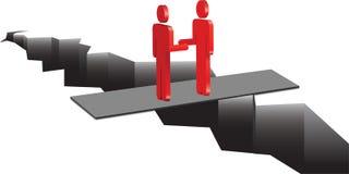 Os homens fazem um acordo ilustração do vetor