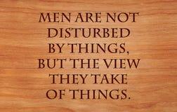 Os homens não são perturbados por coisas Fotos de Stock Royalty Free