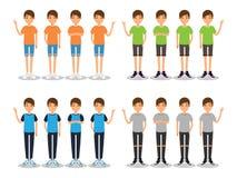 Os homens novos formam o avatar liso moderno ilustração do vetor