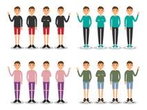 Os homens novos formam o avatar liso moderno ilustração royalty free