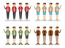 Os homens novos formam o avatar liso moderno ilustração stock