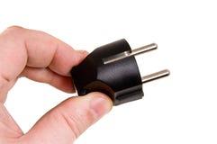 Os homens prendem elétrico preto Fotos de Stock