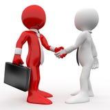 Os homens que agitam as mãos como um sinal da amizade e concordam Imagens de Stock