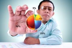 Os homens tomam um diagrama Imagem de Stock