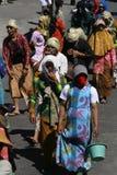 Os homens vestiram mulheres Foto de Stock Royalty Free