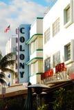 Os hotéis da colônia e do bulevar em Art Deco South Beach de Miami foto de stock