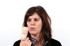Os Hurts do dedo Imagens de Stock