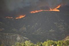Os incêndios violentos aproximam o LA Fotos de Stock