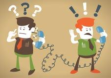 Os indivíduos corporativos retros têm um debate acalorado no t ilustração royalty free