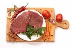 Os ingredientes para preparam o jantar Fotografia de Stock Royalty Free