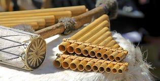 Os instrumentos andinos Imagens de Stock